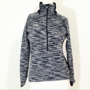 Columbia Gray & Black Quarter Zip Jacket!